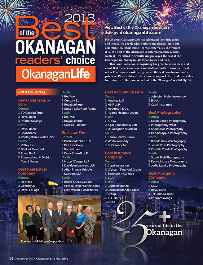 Best of the Okanagan 2013