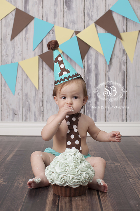 Cake Smash Fun for 1 Year Old Baby P Sarah Beebe Photography
