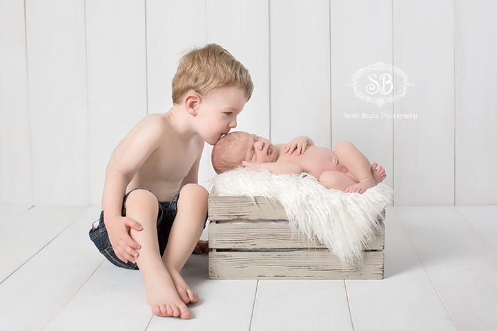Beautiful Kelowna Newborn Boy in SBP Studio