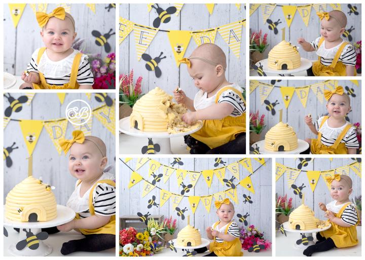 Happy Bee-Day {Bee Themed Cake Smash ~ Milestone Photographer}