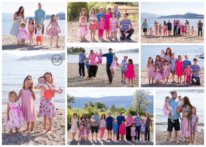 Large Family Reunion on Kelowna's Beautiful Okanagan Lake