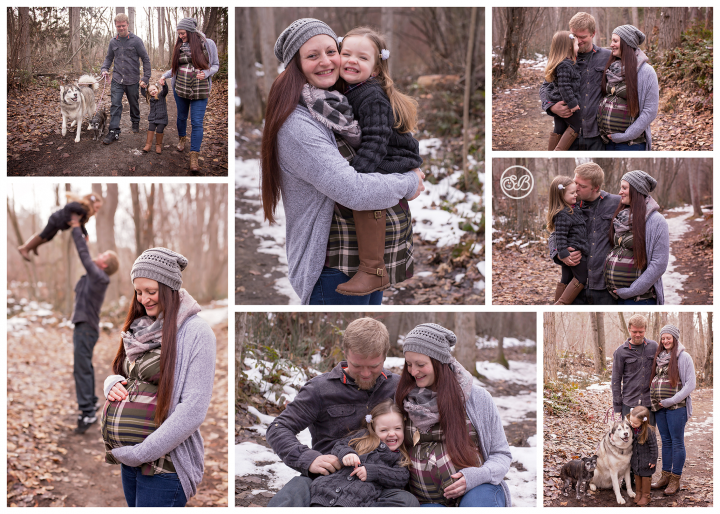 Adorable Winter Family Maternity Session