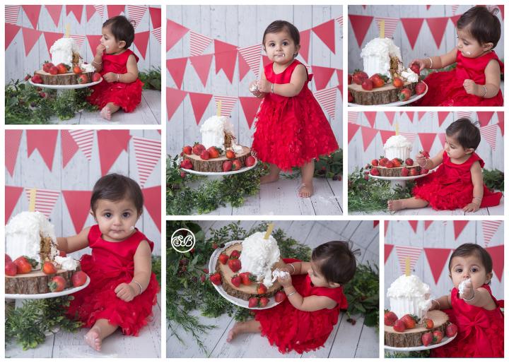 Sweet Strawberry Lady {Cake Smash Milestone Photographer}