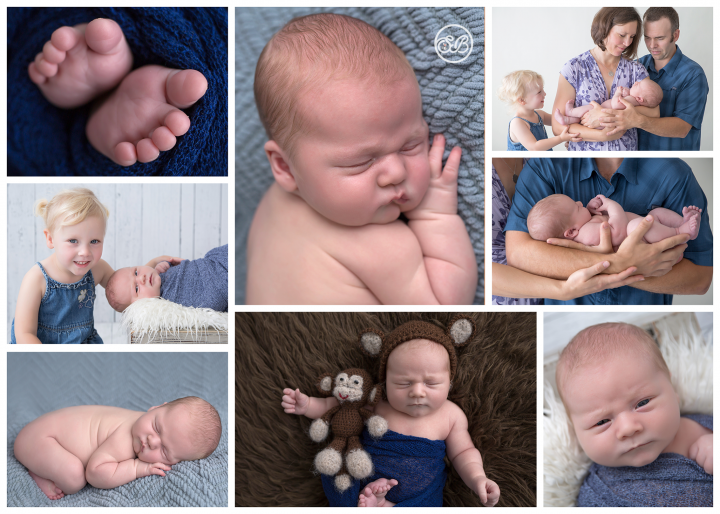 Sweet Monkey Snuggled in SBP Studio {11 pounds of newborn goodness!}