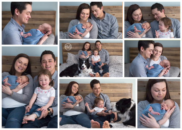 Fun In Home Family Newborn Session