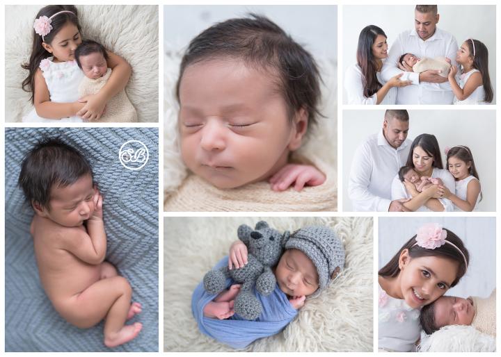 Newborn Boy Family Session in New SBP Studio