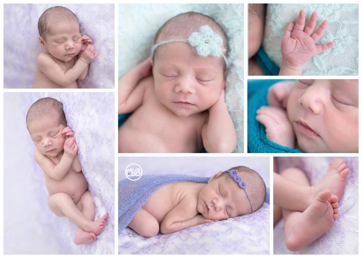 Beautiful Baby Girl {Purple & Turquoise} SBP Kelowna Studio