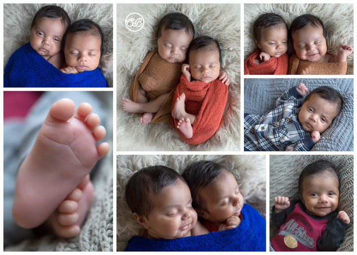 Adorable Newborn Twin Boys {In Home Session West Kelowna}