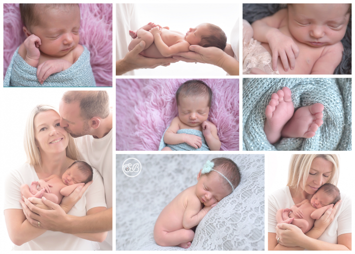 Beautiful Family with Newborn Baby in Kelowna SBP Studio