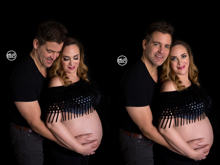 Leah West Studio Maternity Session