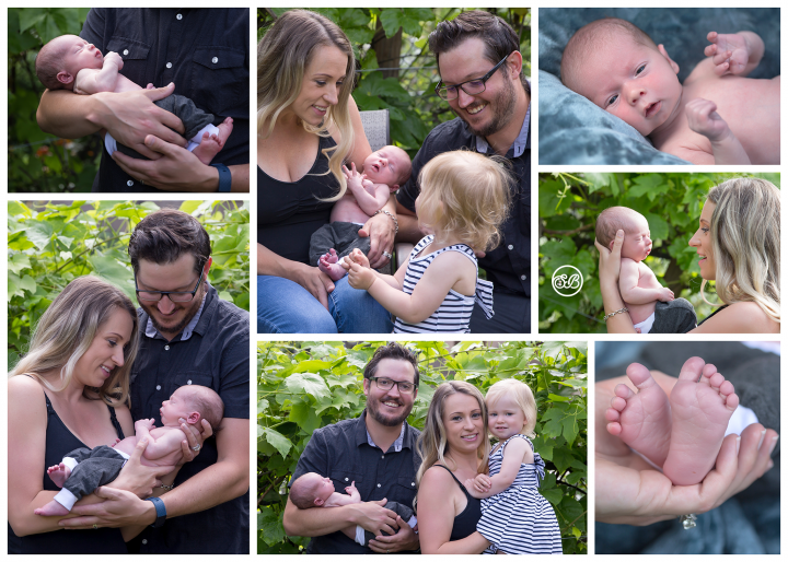A Sweet Backyard, Socially Distanced Newborn Session