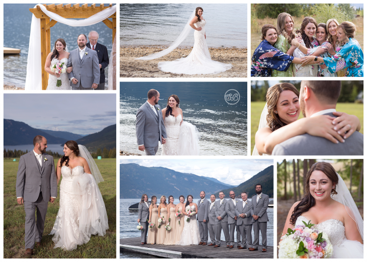 Beautiful Salmon Arm Canada Lake Wedding September 2018