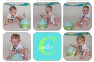 Cake Smash Cutie Baby C in Kelowna Natural Light Studio