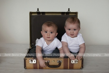 6 Month Old Twins Play in the Kelowna Studio