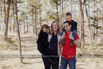 Birthday surprise family photo session in Kelowna