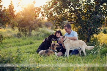 Puppy Love in a Kelowna Orchard