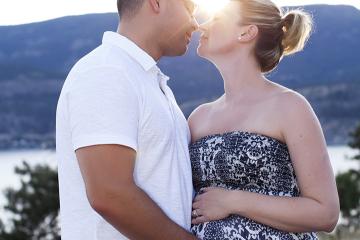 Beautiful Parents-To-Be Enjoy Knox Mountain Sunset