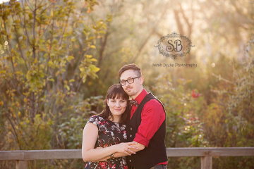 Beautiful Couple in Downtown Kelowna Sun ~ Fall 2014 Engagement Session