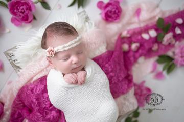 Newborn Girl in Kelowna Studio Spring Snuggles 2015