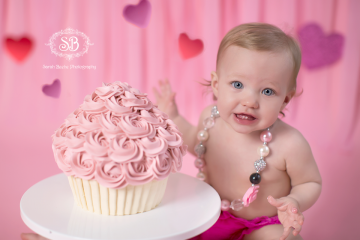 Valentine's Themed Cake Smash February 2015