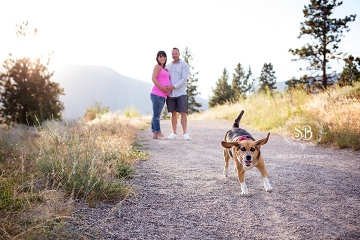 Beautiful Couple and Beagle Celebrate welcoming a New Little Bundle