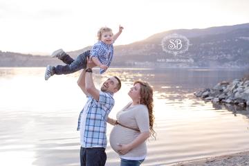 Kelowna Maternity Session Okanagan Lake Sunset Love Spring 2015
