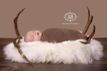 Newborn Boy Celebrates Life Hunter Style Feb 2015