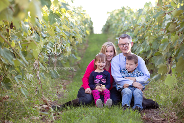 Fun in Kelowna Vineyard for September 2014 Family Session