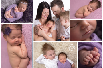 Beautiful Baby GIrl and Family in Kelowna Studio