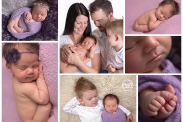 Beautiful Baby GIrl and Family in Kelowna Studio