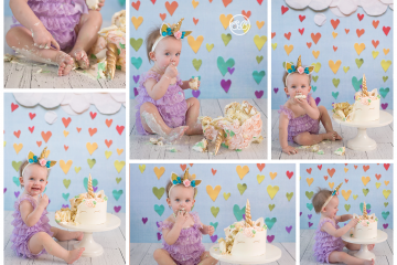 Adorable Unicorn Cake Smash {Celebrate Turning 1!}