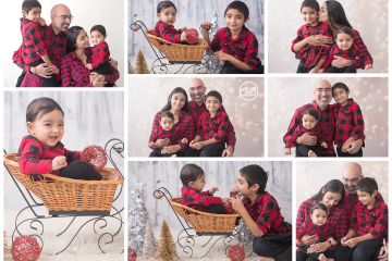 Adorable in Studio Holiday Family Session