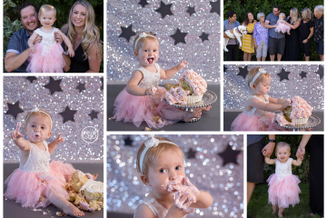 Sparkly First Birthday Party {Cake Smash Fun}