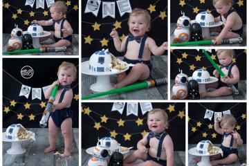 Adorable Star Wars Cake Smash {Happy 1st Birthday Cutie!}
