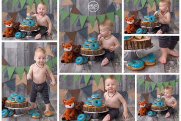 Doughnut SMASH! What a fun way to celebrate turning 1!