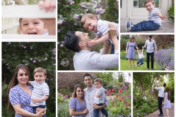 Family Photos in Kelowna Garden