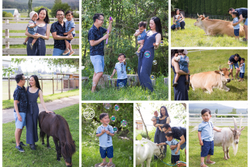 Family Session at the Lovely Arion Therapeutic Animal Farm