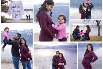 Winter Beach Family Maternity Session