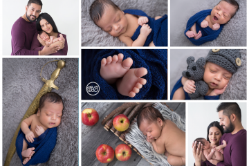 Beautiful Newborn Boy Surrounded with Love