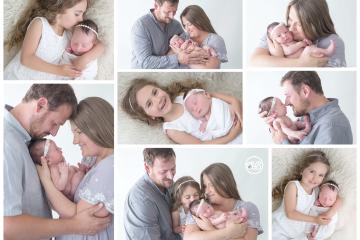 Beautiful Family Newborn Session in SBP Studio {Big Sister Snugs}
