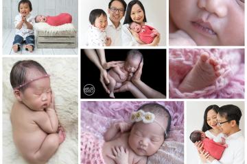 Beautiful Family with Newborn Girl in SBP Kelowna Studio