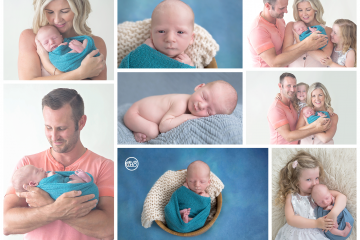 Big Sister and Family Welcome Bay Boy in Kelowna SBP Studio {Milestone Photographer}