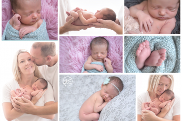 Beautiful Family with Newborn Baby in Kelowna SBP Studio
