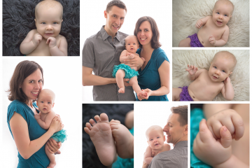 Sweet Family with 3 Month Old in Kelowna Studio