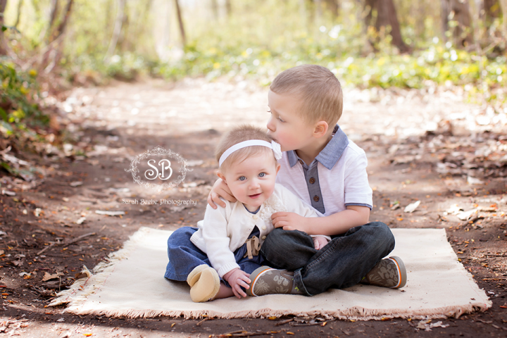 Adorable 6 Month Little Star Session with Brother and